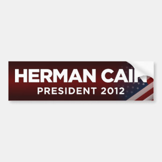 Herman Cain President 2012 - Red Bumper Sticker