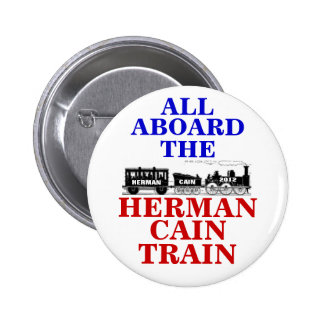 Herman Cain Train 2012 button