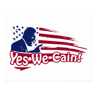 Herman Cain - Yes We Cain! Post Card