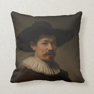 Herman Doomer by Rembrandt Master Painting Sfumato Throw Pillow