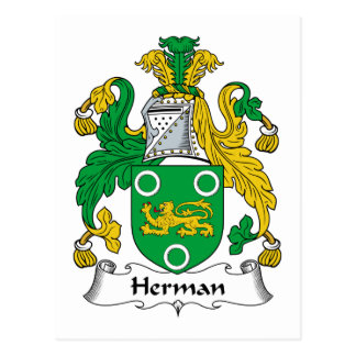 Herman Family Crest Postcard