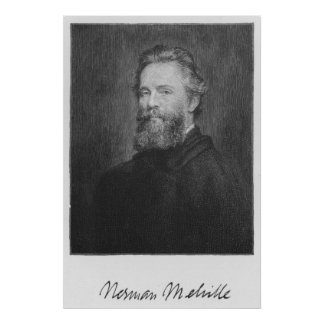 Herman Melville Large Art Print