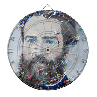 herman melville - oil portrait dartboard