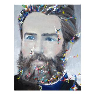 herman melville - oil portrait letterhead