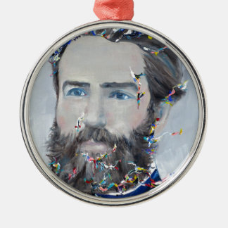 herman melville - oil portrait metal ornament