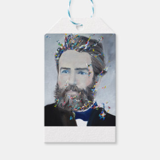 herman melville - oil portrait pack of gift tags
