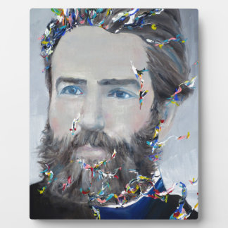 herman melville - oil portrait plaque