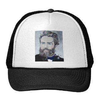 herman melville - oil portrait trucker hat