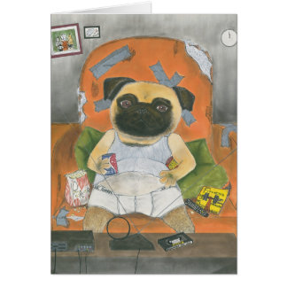 Herman, the Pug Card