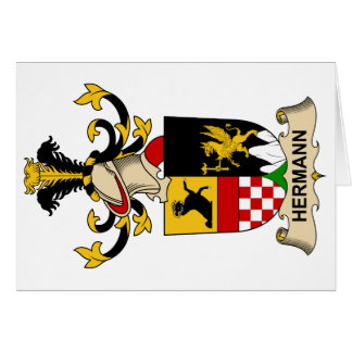 Hermann Family Crest Card