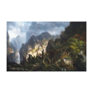 Hermann Herzog Storm in the Mountains Canvas Print