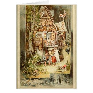 Hermann Vogel - Hansel and Grethel Card