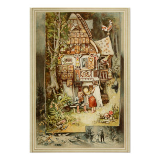 Hermann Vogel - Hansel and Grethel Poster