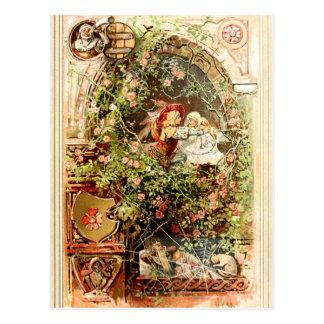 Hermann Vogel - Sleeping Beauty Postcard