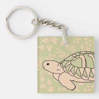 Hermann's Tortoise Keychain (foliage green)
