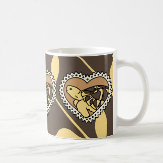 Hermann's Tortoise Mug (brown heart)