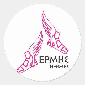 Hermes / Ermis - One of the 12 Greek Gods Classic Round Sticker