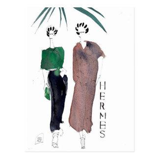 Hermes Fashion Postcard by PARISDREAMTIME
