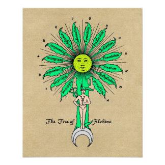 Hermes Sacred Tree of Alchemy Poster