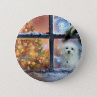 Hermes the Maltese 2 Inch Round Button