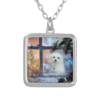 Hermes the Maltese Silver Plated Necklace
