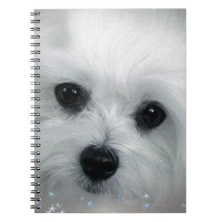 Hermes the Maltese Spiral Notebook