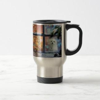 Hermes the Maltese Travel Mug