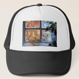 Hermes the Maltese Trucker Hat