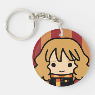 Hermione Granger Cartoon Character Art Double-Sided Round Acrylic Keychain
