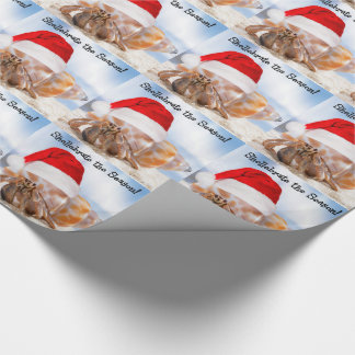 Hermit Crab Christmas Wrapping Paper