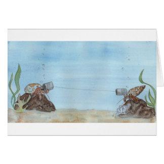 Hermit crab greeting cards