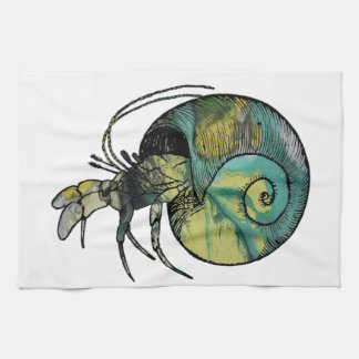 Hermit Crab Kitchen Towel