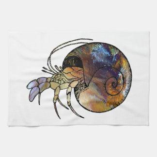 Hermit Crab Kitchen Towel