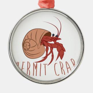 Hermit Crab Silver-Colored Round Ornament