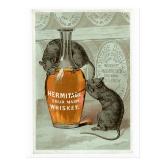 Hermitage Sour Mash Vintage Drink Ad Art Postcard