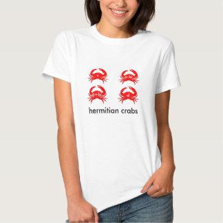 """""""Hermitian Crabs"""" shirt (matrix + hermit crabs)"""