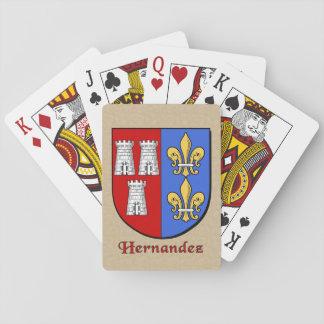 Hernandez Heraldic Shield Playing Cards