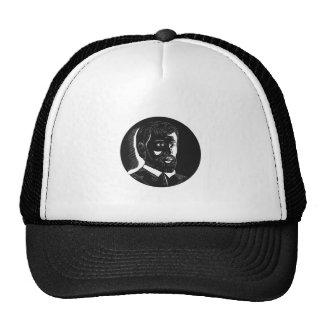 Hernando de Soto Explorer Circle Woodcut Trucker Hat