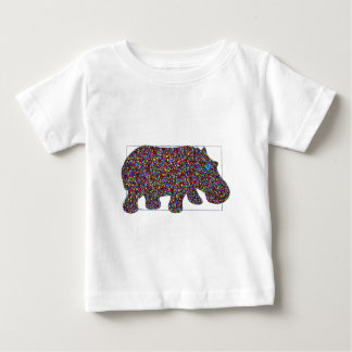Hernando Stained Glass Hippo Baby T-Shirt