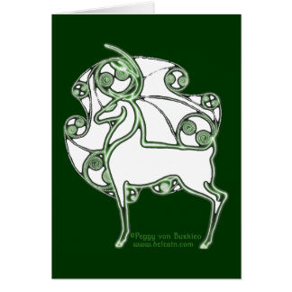 Herne Celtic Deer Card
