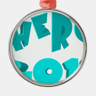 Hero 2018 metal ornament
