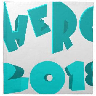Hero 2018 napkin