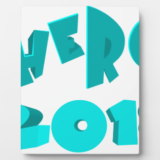 Hero 2018 plaque
