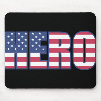 Hero American Flag Stars Stripes Red White Blue Mouse Pad