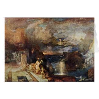 Hero And Leander'S Farewell By Turner Joseph Mallo Card