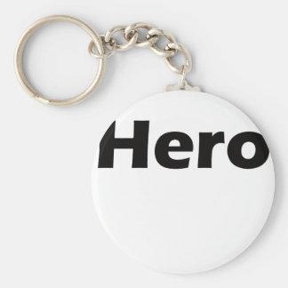 Hero Basic Round Button Keychain