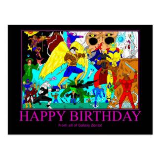 Hero Birthday Card Postcard