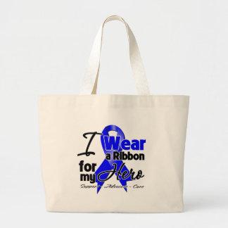 Hero - Colon Cancer Ribbon Tote Bag