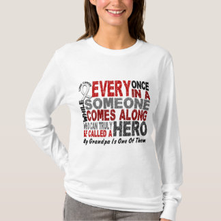 HERO COMES ALONG 1 Grandpa LUNG CANCER T-Shirt