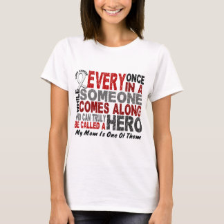 Hero Comes Along 1 Mom Lung Cancer T-Shirt